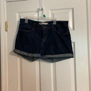 Dark blue Levi's shorts